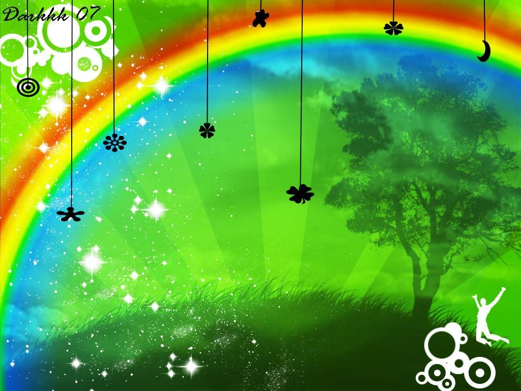 rainbow and black emo wallpaper - photo #1